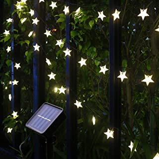 Xingpold Solar Star String Lights Outdoor,Waterproof Solar Powered Christmas Twinkle Fairy String Lights,23FT 50LED 8Modes...
