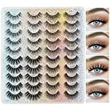 MAANGE 20 Pairs 4 Styles False Eyelashes, 3D Eyelashes Natural Look and Dramatic Thick Fake Eyelashes (G20-3)