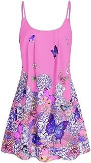Butterfly Flower Cami Tunic Women Dress