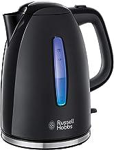 Russell Hobbs Textures Plus Waterkoker Zwart (1,7L), Snelkookfunctie, Extra Zuinig, Gemakkelijk Reinigbaar, 2.400 Watt/ 2,...