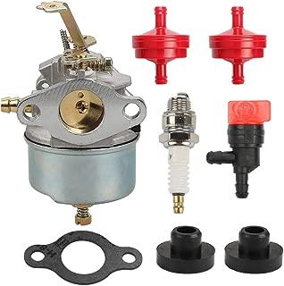 Kaymon 631067A 631828 H30 Carburetor Fuel Filter for Tecumseh H50 H60 HH60 632076 632230 632272 Troy Bilt Tillers 5HP 6HP 4 Cycle 2 Stage Snowblower Engine Fuel Tank Grommet Spark Plug