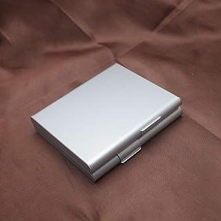 XJJZS 1 pièces étui à Cigarettes Accessoires pour Fumer métal Hommes Cadeau Porte-Tabac boîte de Poche 9.2 * 8.2 * 2 CM co...