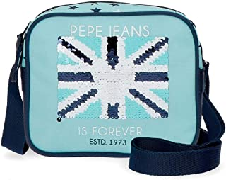 Pepe Jeans Cuore Bandolera Pequeña Azul 18x15x5 cms Poliéster