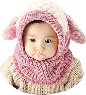 630fedcffa415 Lukis Bonnet Tour du Cou Enfant Cagoule Bébé Garçon Fille Cache Oreilles  Chapeau Tricoté Hiver 0