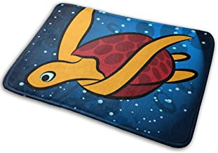 Decorative Doormat Home Decor Exotic Sea Turtle Welcome Indoor Outdoor Entrance Bathroom Floor Mats Non Slip Washable Mat,...