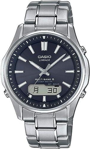 Casio Wave Ceptor Homme Analogique Quartz Montre avec Bracelet en Titane
