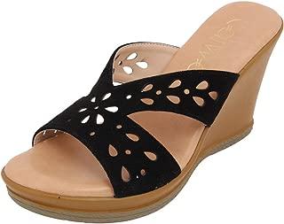 Catwalk Black Wedges Sandals