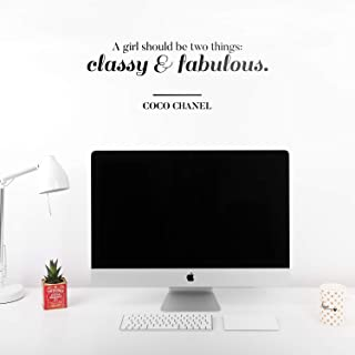 Vinyl Wall Art Decal - A Girl Should Be Two Things Classy and Fabulous - 10