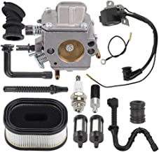 Hayskill MS460 MS440 Carburetor Replacement w Air Fuel Filter Ignition Coil Repower Kit for Stihl 044 046 MS 440 460 Chainsaw Parts Replace 1128 120 0625 Zama HD-17A HD-16D Carb
