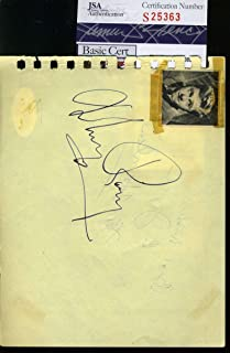 MICKEY ROONEY HAND SIGNED JSA ALBUM PAGE AUTHENTIC AUTOGRAPH