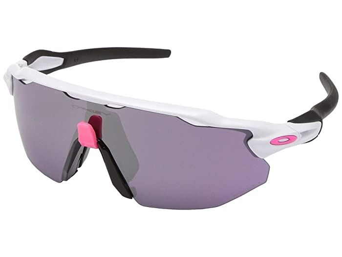 Oakley  38mm Radar EV Advancer (Polished White with PRIZM Road Black) Fashion Sunglasses