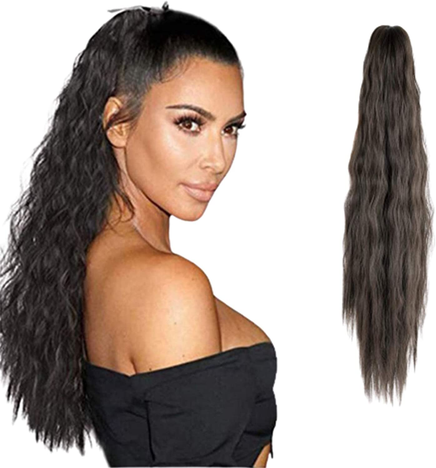 FUT Womens Claw Ponytail Clip in Long inches Extensions Rapid rise store 21 Hair