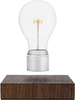 FLYTE Manhattan - La auténtica lámpara flotante que incorpora una bombilla LED, original y levitante (base de nogal, bombilla con tapa de cromo) [Clase de eficiencia energética B]