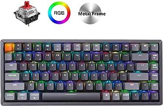 Keychron K2 Wireless Bluetooth/USB Wired Gaming Mechanical Keyboard, Compact 84 Keys RGB LED Backlit Red Switch N-Key Rollover, Aluminum Frame for Mac Windows