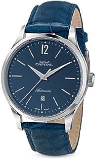 Capital - Time AT1048 - Reloj de hombre automático con correa de piel de cocodrilo