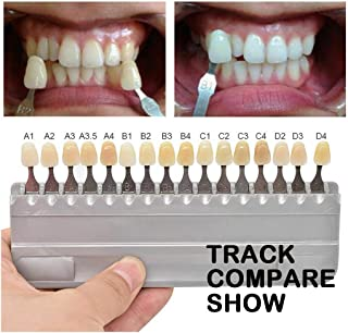 1 Set 16 Colors 3D Teeth Whitening Shade Guide Porcelain - Tooth Bleaching Shade Chart Mold - Tracking & Comparing - Denta...