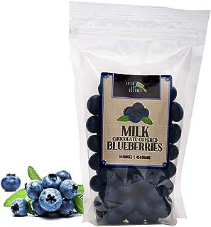 Green Jay Gourmet Milk Chocolate Blueberries - Handmade & Fresh Milk Chocolate Covered Blueberries from Michigan - Great G...