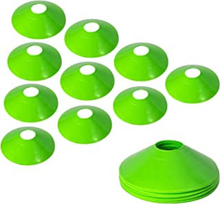 10 Pcs Pro Disc Cones - Training Cones Agility Soccer Cones with Carry Bag for Training Soccer Football Basketball Kids an...