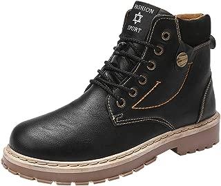 [RDGO] メンズ ブーツ 靴 マーティンブーツ マウンテンブーツ スニーカー ワークブーツ アウトドア 裏起毛 防水 防寒 ハイカット革靴 レイン シューズ 紳士靴 男性用
