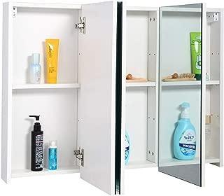 """36"""" Bathroom Medicine Cabinet with 3 Mirrors Cabinet Medicine Bathroom Wood Apothecary Antique BeUniqueToday"""
