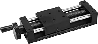 Different Gift Gear Rotating Stage Actuator, Handle Control Sliding Table Aluminum Alloy 100mm Slide for Microscopes for P...