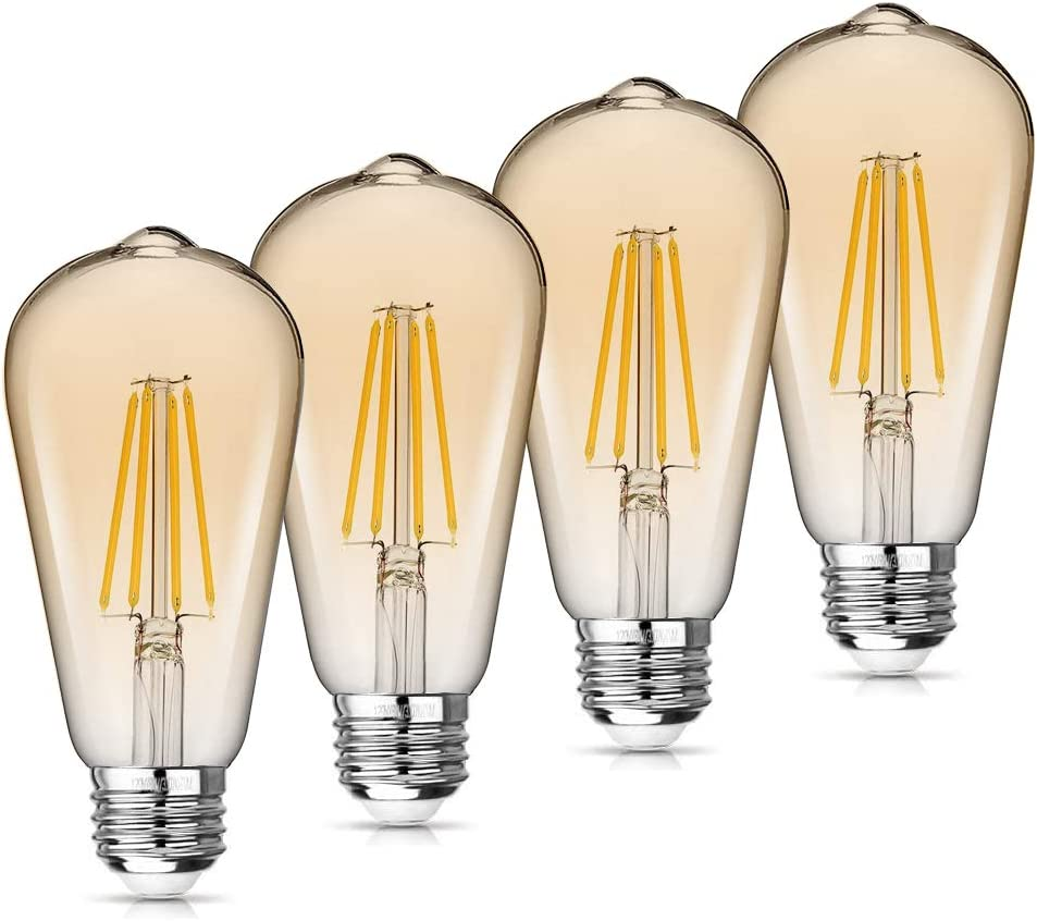 National uniform free Manufacturer direct delivery shipping WAWUI Edison LED Light Bulbs Dimmable Amber Equivalent 4W=60W