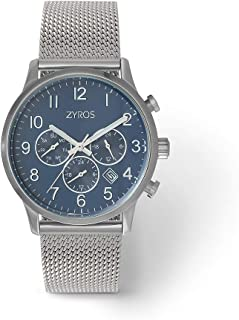 Men's chrono watch, Sport Watch, glass scratch-resistant crystal, water resistant, depth up to 30 meters