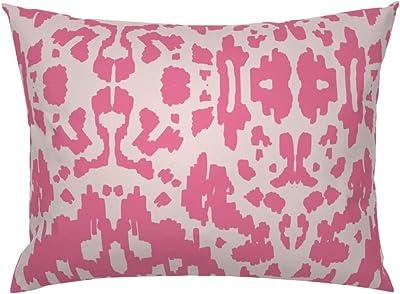 Amazon.com: roostery lunares animal print rosa fucsia ...