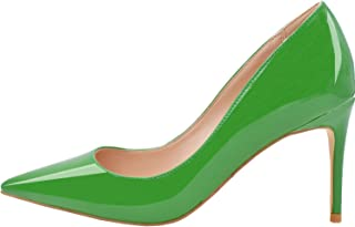eadfcae144 Lovirs Womens Office Basic Slip on Pumps Stiletto Mid-Heel Pointy Toe Shoes  for Party