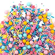Sweets Indeed Sprinklefetti Happy Unicorn Sprinkles - Gluten-Free Pastel Sprinkle Medley for Baking Cupcakes and Cakes - 8 Ounces
