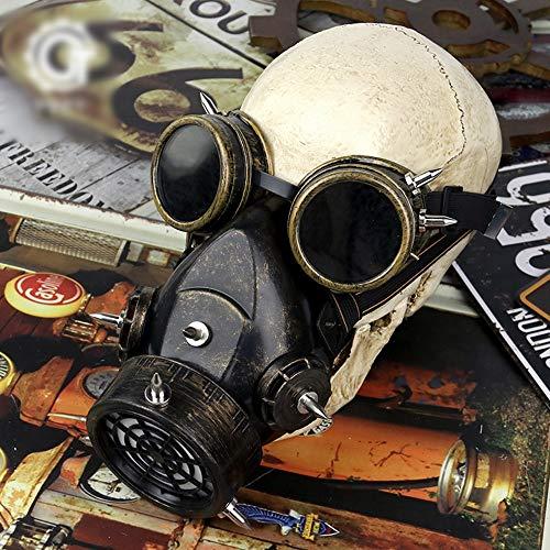 FENXIMEI Respiradores Steampunk máscara de Gas para Halloween, Accesorio para Fiestas de Disfraces, máscara de Bolas de Dibujos Animados
