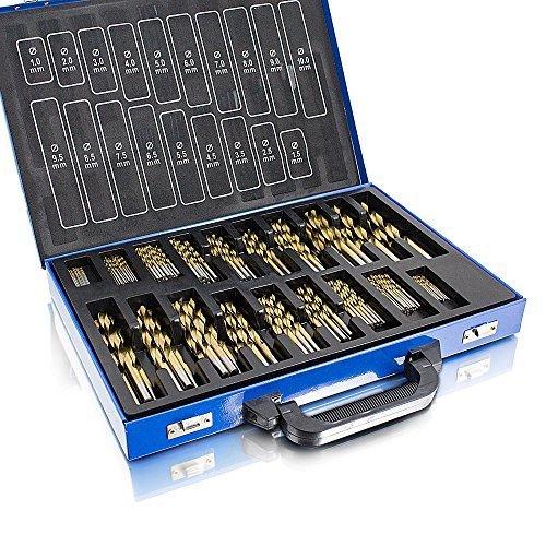 BITUXX® Bohrer Set 230 Teiliges TITAN TiN HSS Metallbohrer Spiralbohrer Holzbohrer Feinbohrer Set 1-10mm