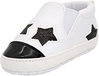 Kuner Newborn Baby Boys Girls Pu Leather Soft Bottom Non- Slip Sneakers First Walkers Shoes