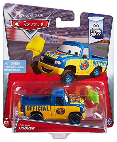 Disney Pixar Cars Dexter Hoover with Yellow Flag (Piston Cup Series, # 10 of 18) - véhicule miniature