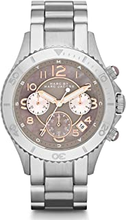 Marc by Marc Jacobs Rock Women's Mother of Pearl Dial Stainless Steel Band Chronograph Watch - MBM3250