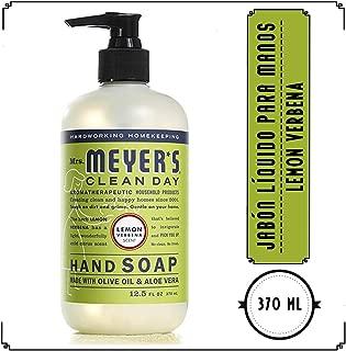 Mrs. Meyers Mrs Meyer's Clean Day Jabón Líquido Para Manos, Lemon Verbena, 370ml, Pack of 1