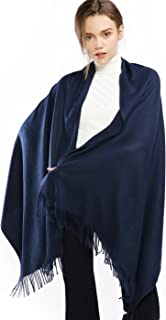 Winter Cashmere Wool Scarf Pashmina Shawl Wrap Stole for Women Feel Warm Thick Large Scarves