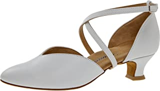 Diamant Femmes Chaussures de Danse 107-013-033 - Cuir Blanc - 4,2 cm Spanish