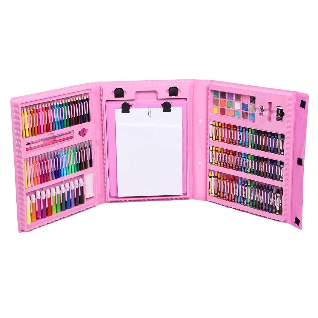 ボンド流用するいわゆる約208個 クレヨン ミニマーカー カラー鉛筆 カラーペン 水彩絵具 セット DIY 絵画用品