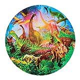 Laiashley Rompecabezas de cartón, 1000 unids/set colorido círculo rompecabezas adultos niños juguete educativo rompecabezas océano sueño/dinosaurio mundo
