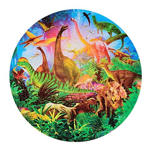Greenbang Rompecabezas Rompecabezas para Adultos De 1000 Piezas Juego Educativo para Aliviar El Estrés para Niños Adultos (Mundo de los Dinosaurios)