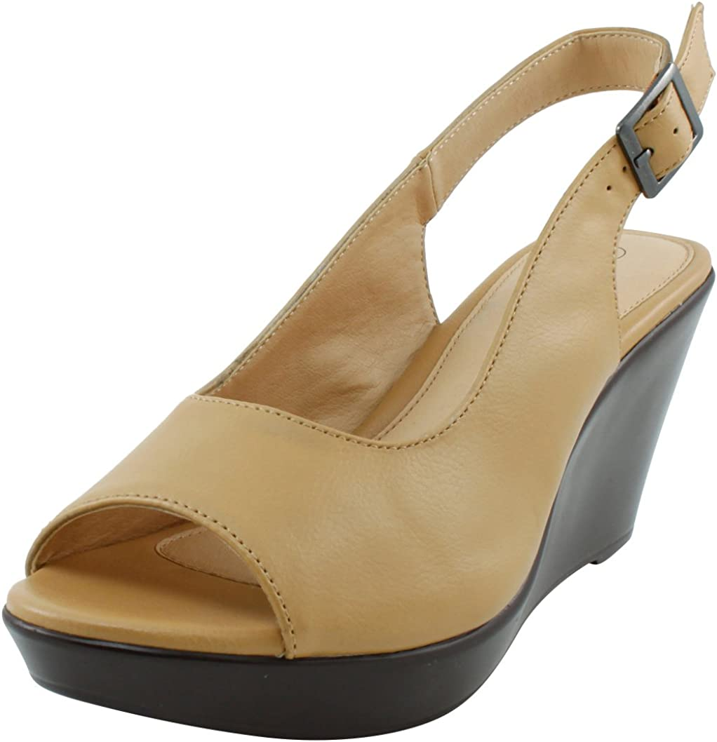 Cambridge Select Women's Peep Toe Slingback Platform Sanda 35% OFF Wedge Genuine
