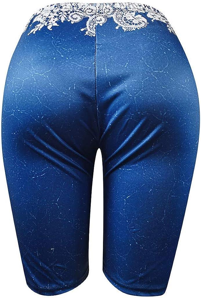 FNKDOR Pantalons de Sport Femmes Shorts de Yoga Capris De Base Cale/çon Bicyclette Compression des Shorts Faire des Exercices Leggings