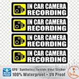 (Pack of 4 pcs) in Car Camera Recording Sticker Dash Cam on Board Video Bumper...