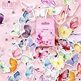 BLOUR 45pcs / Pack Lovely Butterfly Label Stickers Set Papelería Decorativa Craft Stickers Scrapbooking DIY Diary Album Stick Label