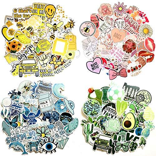 TaimeiMao 200 Stück Kinder Aufkleber, Dekorative Aufkleber kofferAufkleber,Laptop zufällige Aufkleber Pack Aufkleber für Wasserflaschen Wasserdicht Vinyl Stickers Decals Vinyl-Graffiti-Aufkleber (A)