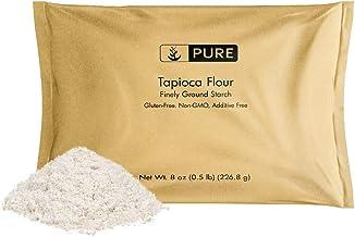 Tapioca Flour (8 oz.) by Pure Organic Ingredients, Also Known As Tapioca Starch, Resealable Eco-Friendly Packaging, Fine White Powder, Gluten-Free, Non-GMO