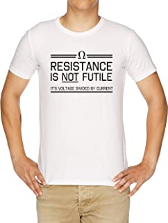 Resistance Is Not Futile Camiseta Hombre Blanco