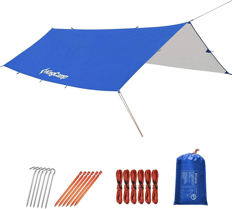 KingCamp Austin Mall Camping Tarp UPF50+ Waterproof Fly Sale price Rain 10x10FT Hammock