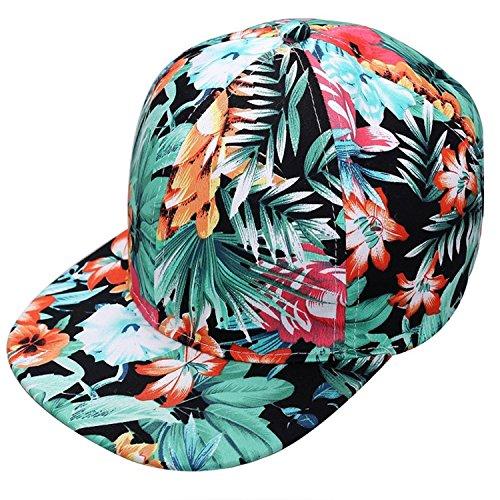 Glamexx24 Basecap Flexfit mit Blumen Muster Baseball Kappe Hip-Hop Muetze in trend Fraben